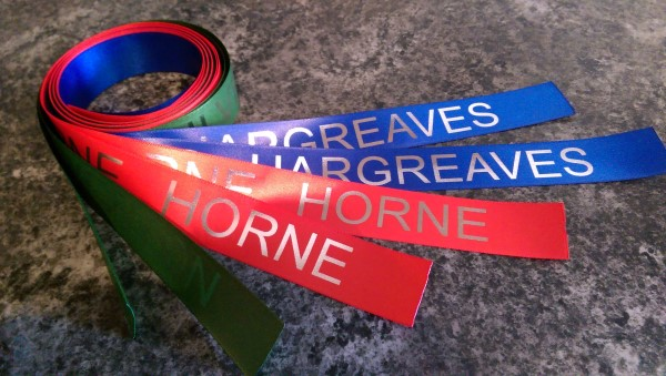 Printed Personalised House Colour Ribbon